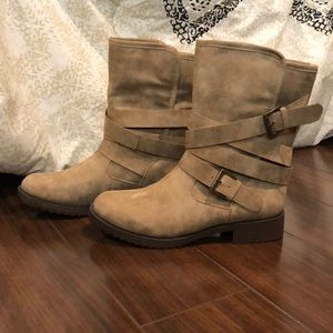 Shoes - Camel Suede Boots